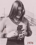In 1976 with a double lens reflex camera